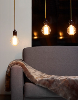 lampe ampoule apparente fil lectrique couleur la suspension d covision en images. Black Bedroom Furniture Sets. Home Design Ideas