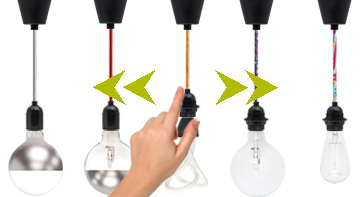 Lampe suspendue grosse ampoule fil couleur cr ez votre suspension d covision - Grosse suspension luminaire ...